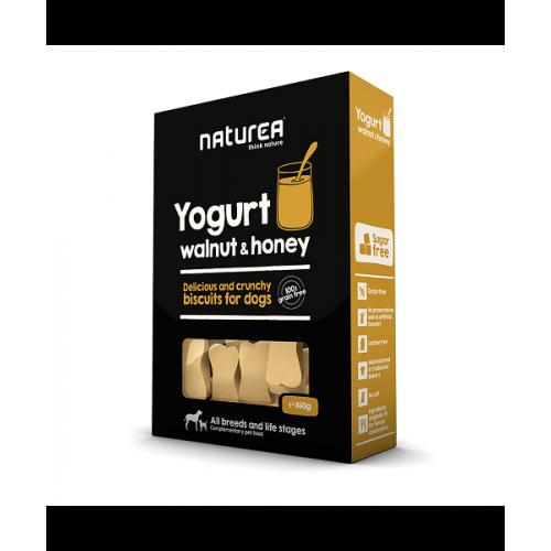 Keksíky jogurt, vlašské orechy a med