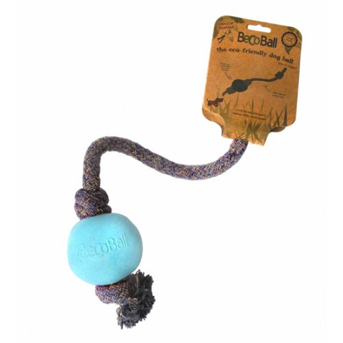 Loptička s lanom BecoBall modrá S