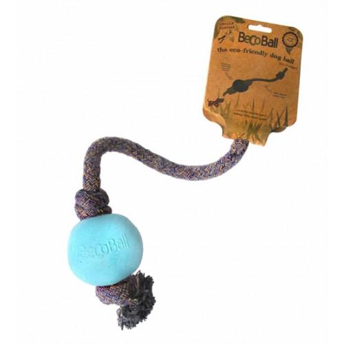 Loptička s lanom BecoBall modrá L