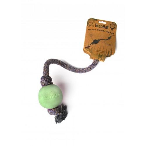 Loptička s lanom BecoBall zelená S