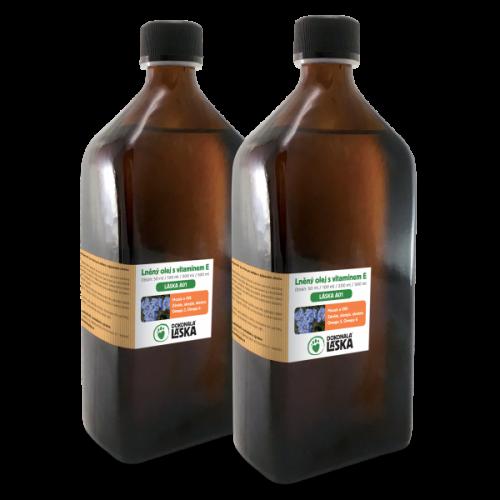 Ľanový olej s vitamínom E 1000ml