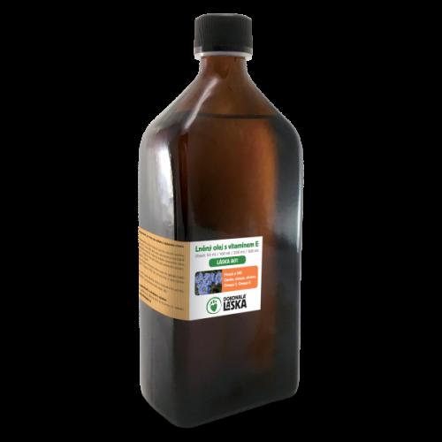 Ľanový olej s vitamínom E 500ml
