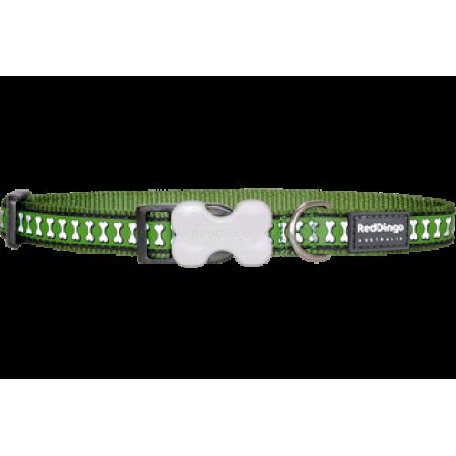 RedDingo Obojok Reflective M zelený