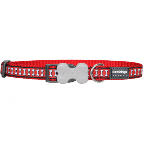 RedDingo Obojok Reflective M červený
